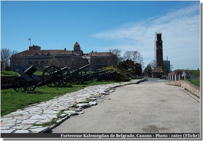 Belgrade Forteresse Kalemegdan canons