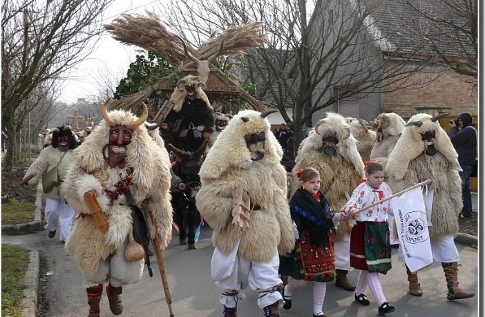Carnaval des buso de mohacs en Hongrie