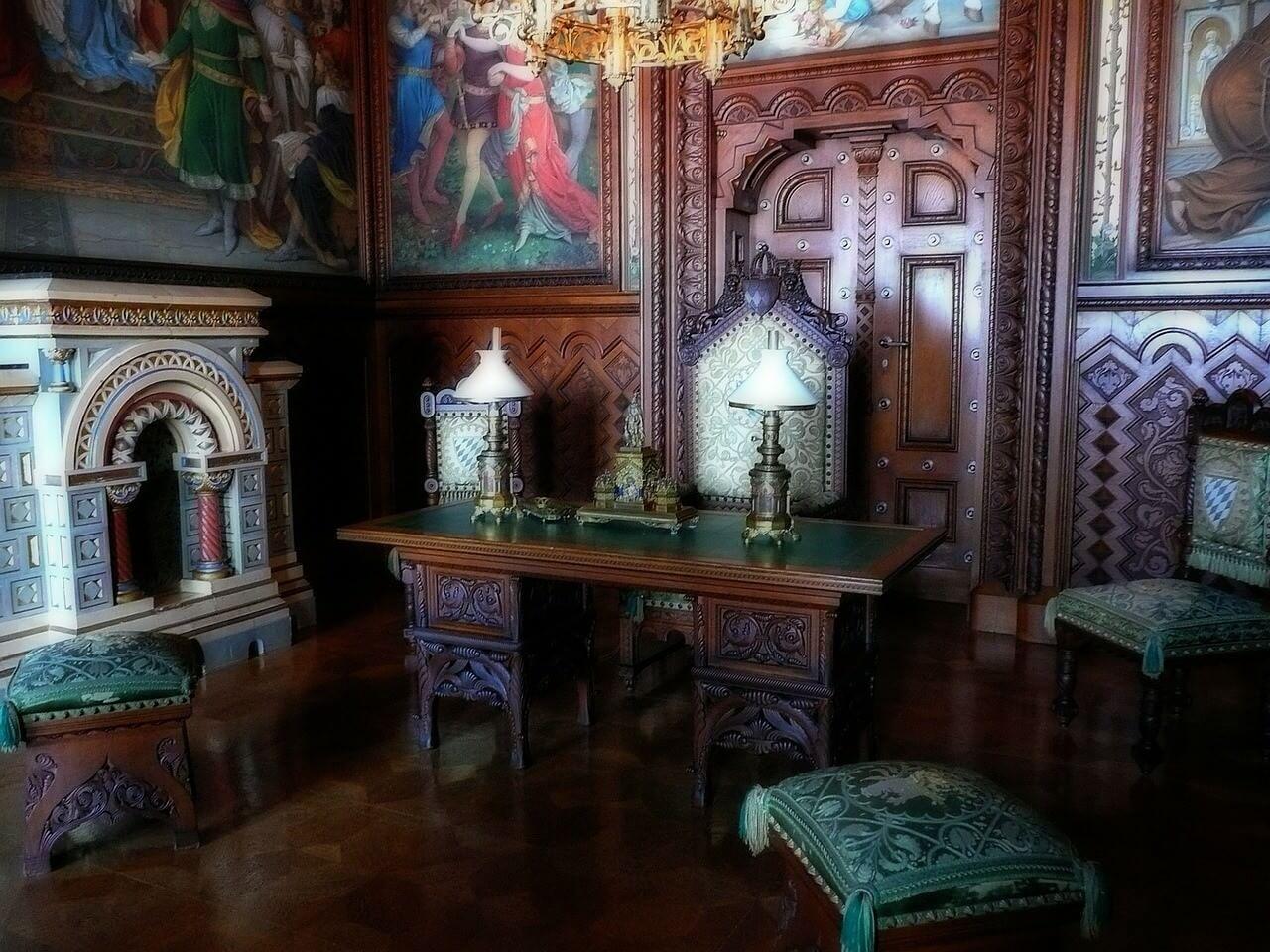 Chateau Neuschwanstein salle d'étude