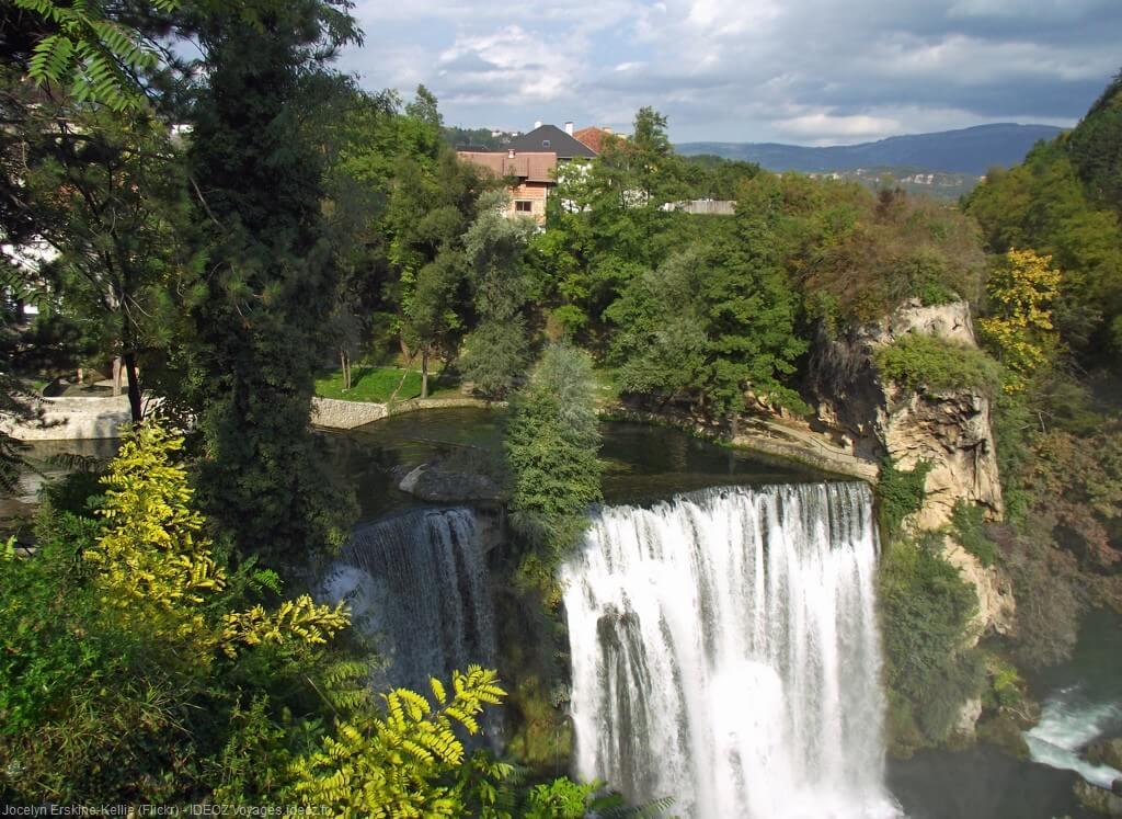 Chutes de Jajce en Bosnie herzégovine