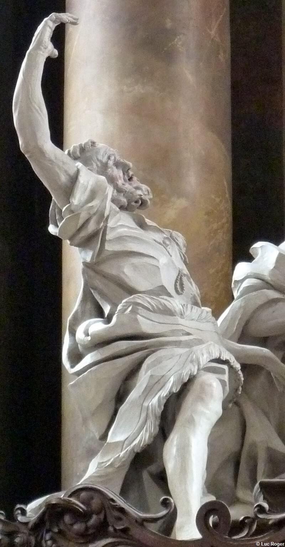 Détail d'un apôtre devant l'assomption de la vierge