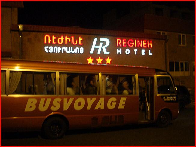 Erevan bus depuis hotel Regineh