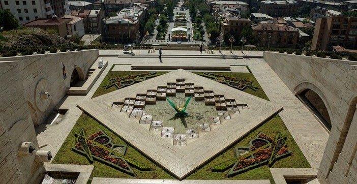 Erevan fontaine et jardin