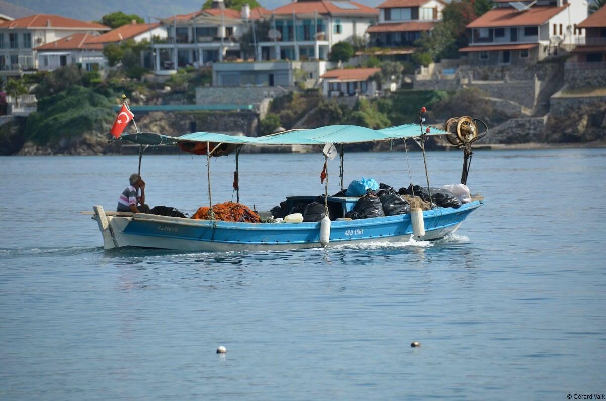 Fethiye barque de pêcheur