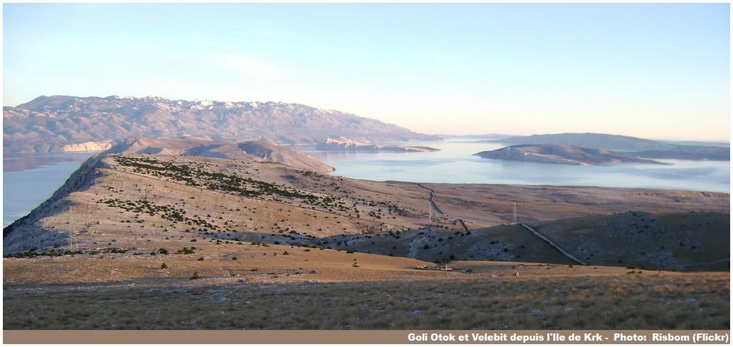 Goli otok Velebit depuis Krk