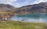 Grytviken port de la capitale de l'ile de Georgie du sud