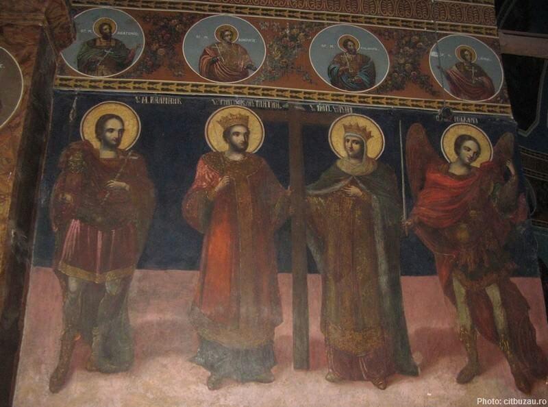 icones et fresques au monastere ciolanu