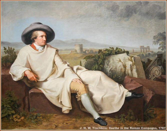 J. H. W. Tischbein Goethe dans la campagne romaine Voyage en Italie