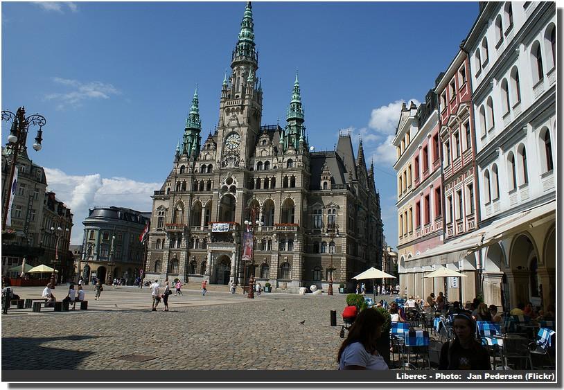 Liberec mairie et place