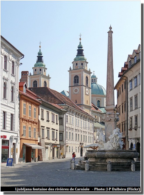 Ljubljana fontaine des rivières de Carniole de Francesco Robba