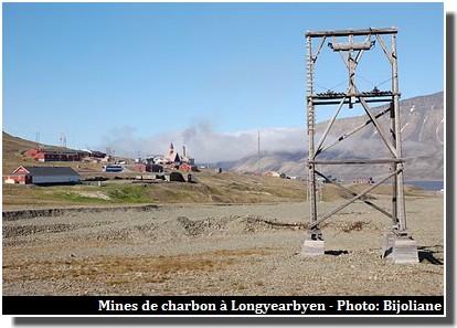 Longyearbyen mines de charbon spitzberg