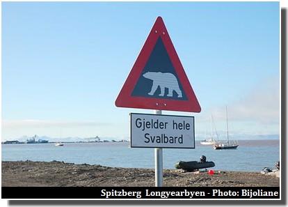 Longyearbyen ours panneau spitzberg