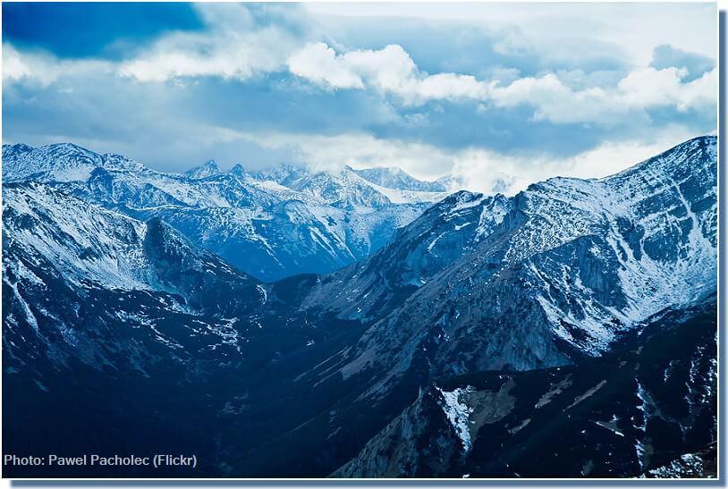 Massifs des Tatras dans la région de Zakopane en hiver