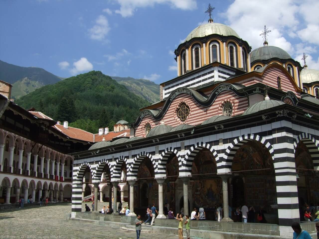 Monastère de Rila en Bulgarie centrale