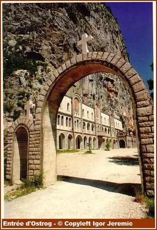 Monastere Ostrog entrée