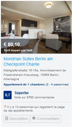 Mondrian suite appartement Berlin check point charlie