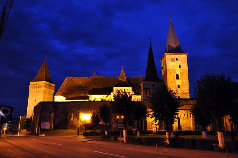 Mosna village saxon de nuit