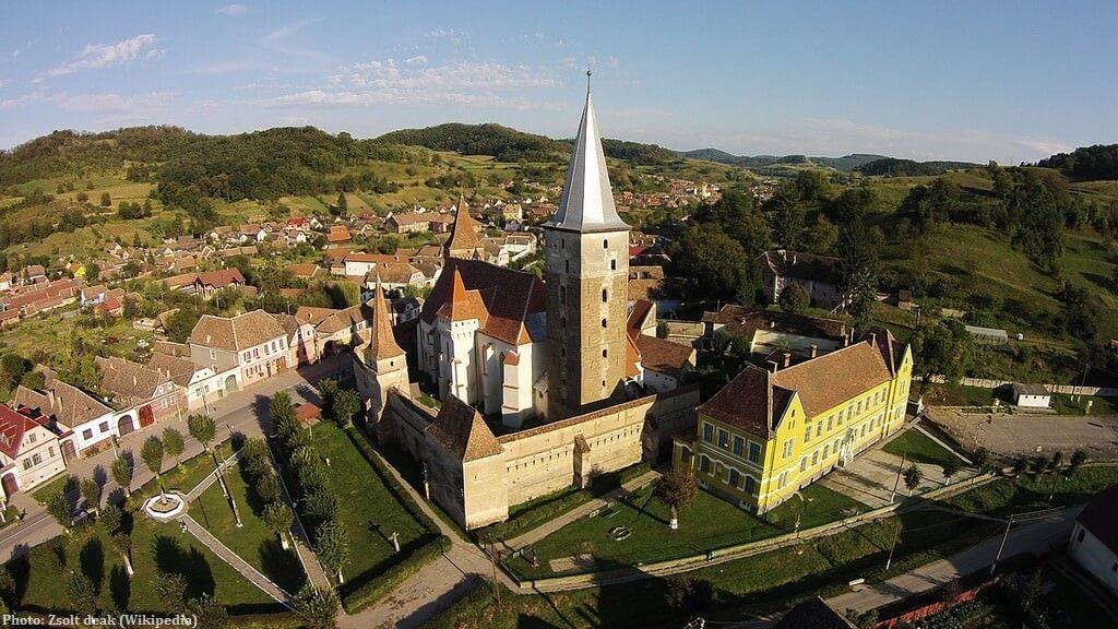 Mosna village saxon en Transylvanie près de Sibiu