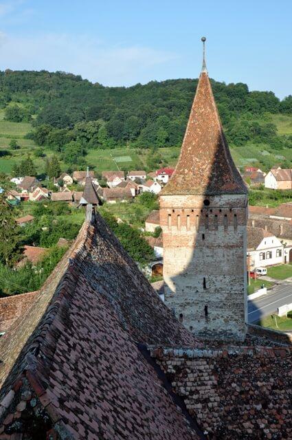 Mosna village saxon fortifié en Transylvanie