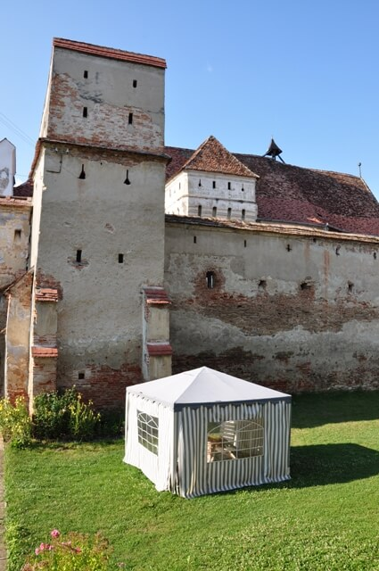 Mosna village saxon fortifications
