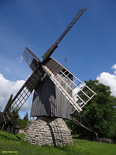 moulin ile Saarema en Estonie