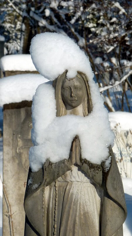 Muenchen Westfriedhof vierge sous la neige