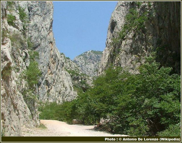Parc national Paklenica sentier de randonnee
