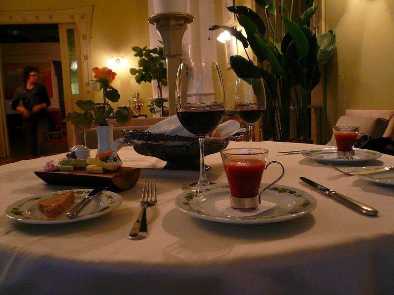 Parnu Villa Ammende repas au restaurant