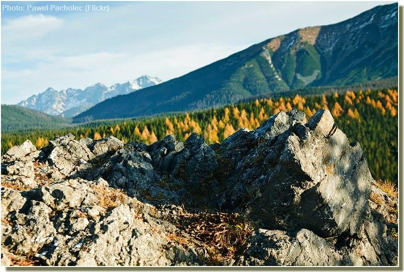 paysage des tatras polonais au debut de l'automne pres de zakopane