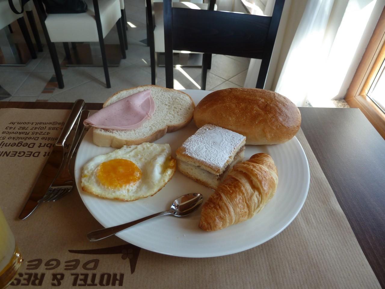Petit déjeuner hôtel degenija