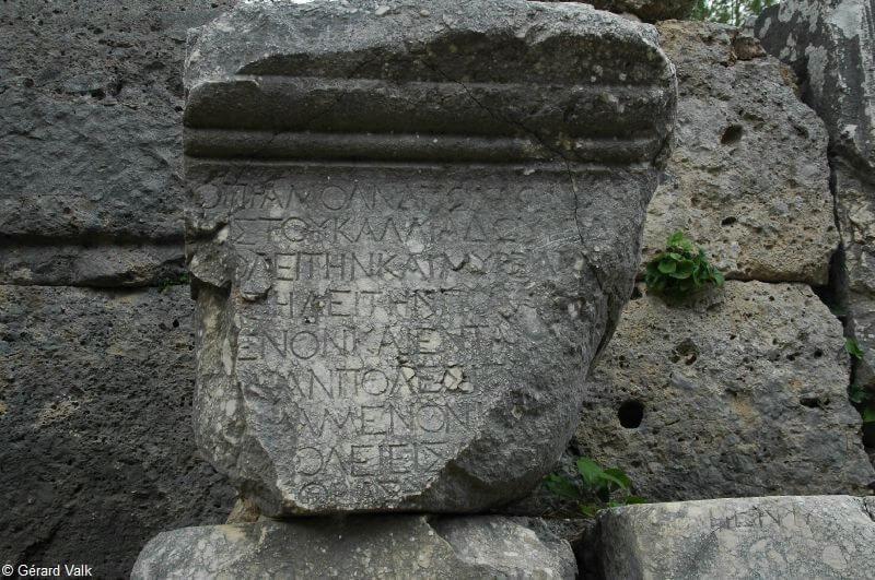 Phaselis écritures anciennes