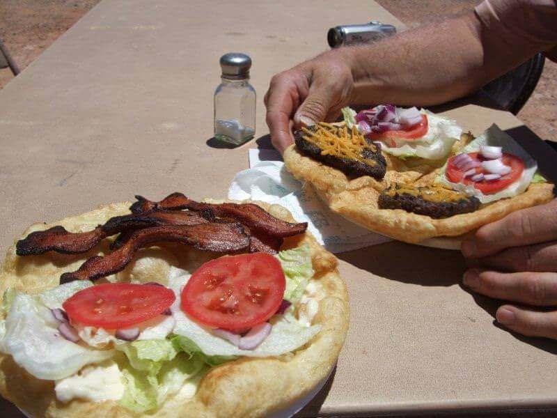 Pizza Navajo au parc Montain Valley