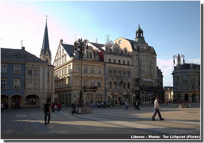 Place centrale Liberec