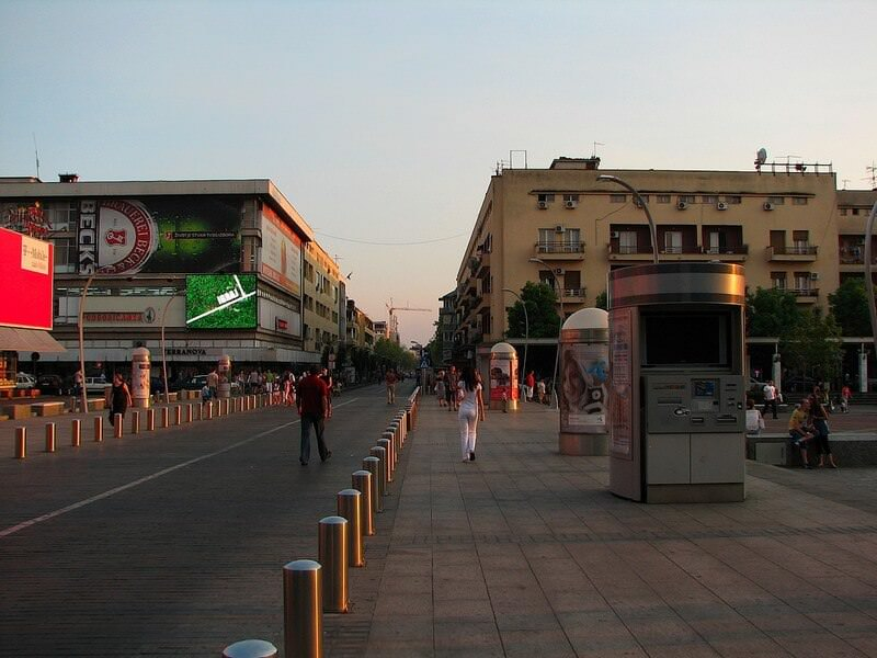Podgorica rue du centre ville
