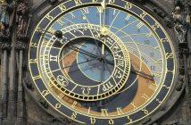 Prague Horloge astronomique en gros plan