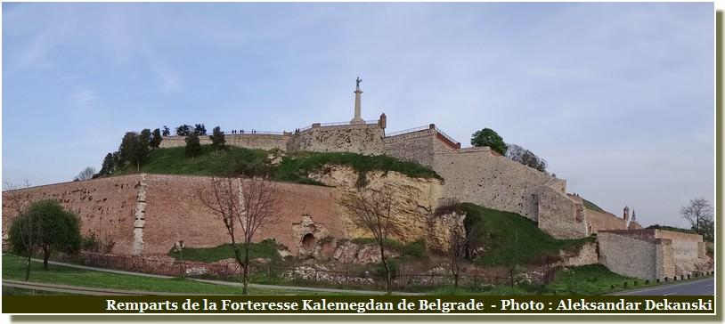 Remparts de la forteresse Kalemegdan