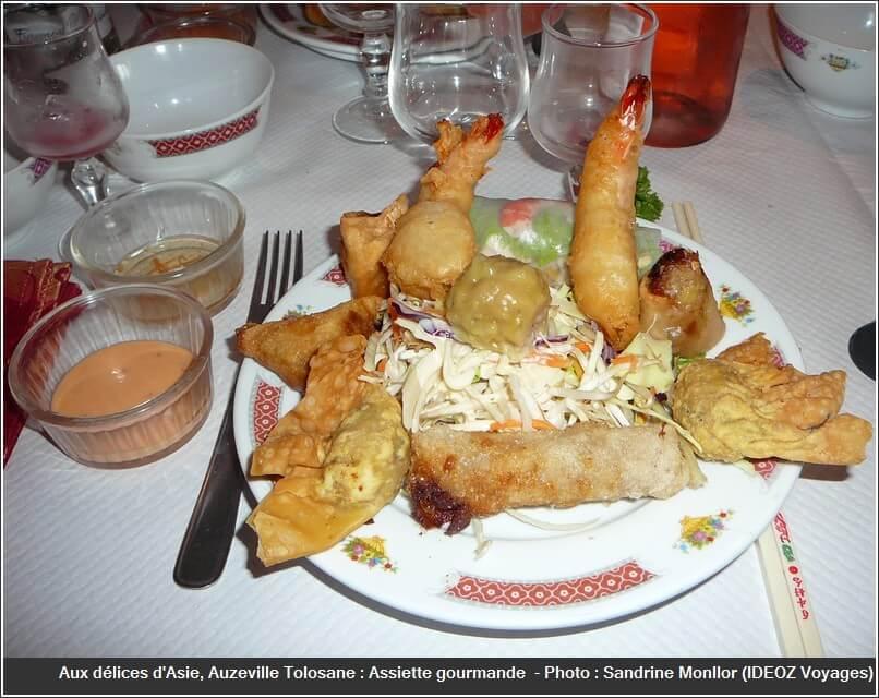 Restaurant Aux délices d'asie auzeville tolosane assiette gourmande (1)