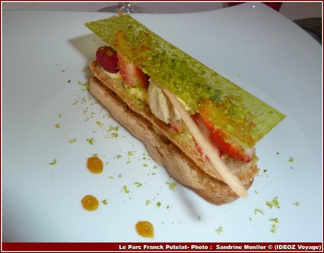 Restaurant Le Parc de Franck Putelat eclair pistaches