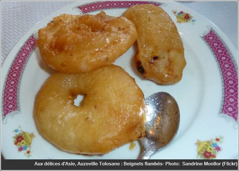 Restaurant aux délices d'asie Auzeville tolosane beignets