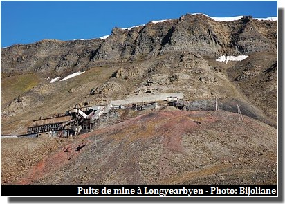 Spitzberg Longyearbyen puits de mine