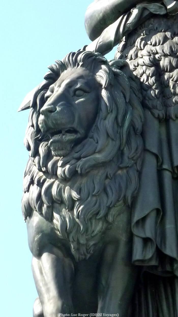 Statue du Lion de Madame Bavaria à Munich