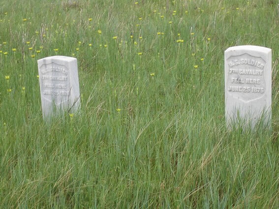 Tombes au Little Bighorn Battlefied National Monument