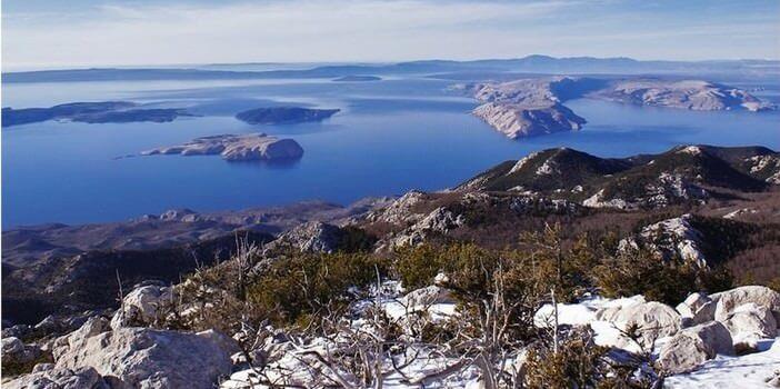 Velebit nord vue sur l'Adriatique
