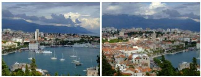 Vue sur la ville de Split en Dalmatie