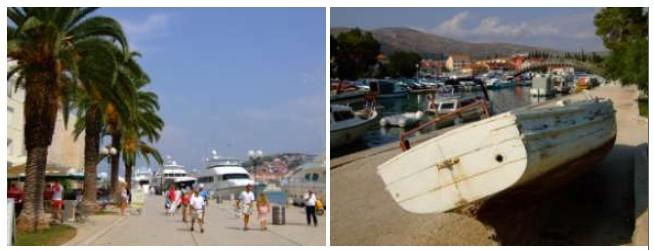 Yatchs quai de Trogir