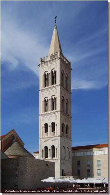 Zadar Clocher Cathédrale Sainte Anastasie