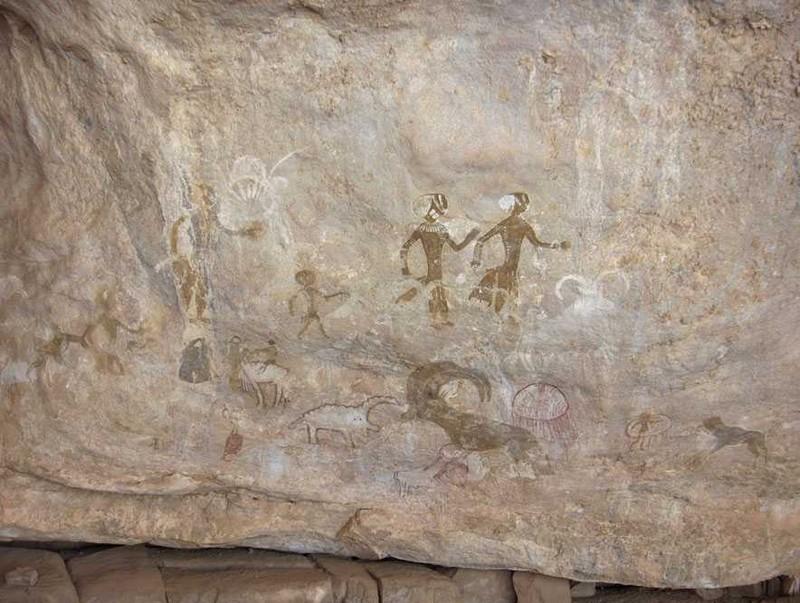 La célèbre fresque des « dames blanches » de Tin Zoumaïtek