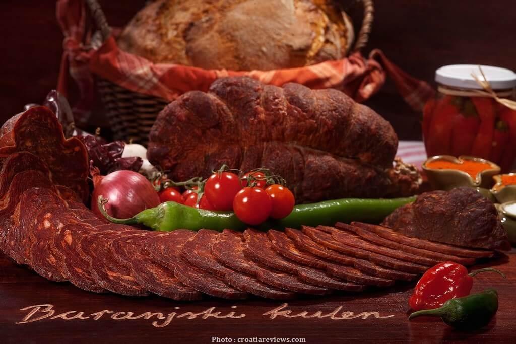 baranjski kulen saucisson spécialité de slavonie