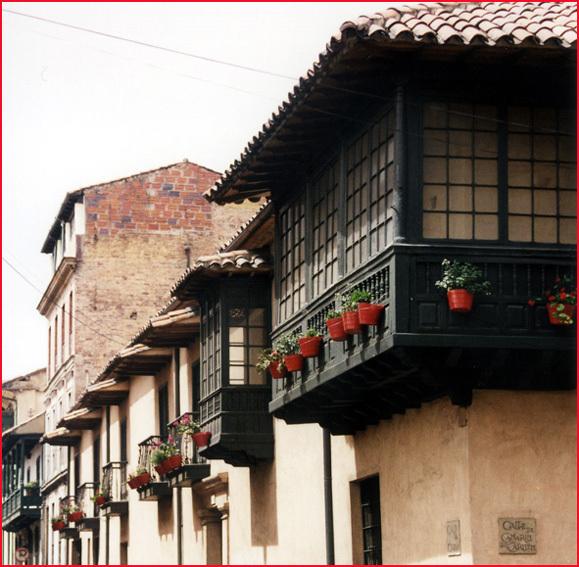 bogota colombie maisons encorbellement