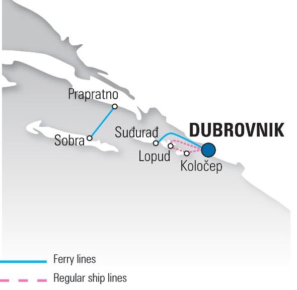 carte ferry en croatie depuis dubrovnik